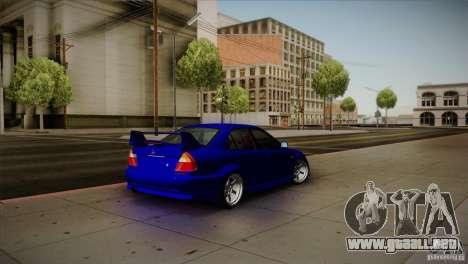 Mitsubishi Lancer Evolution lX para GTA San Andreas vista posterior izquierda