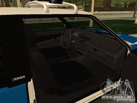 VAZ 2108 policía para la visión correcta GTA San Andreas