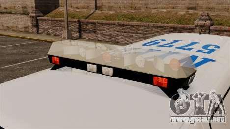 Policía Speedo para GTA 4 vista hacia atrás
