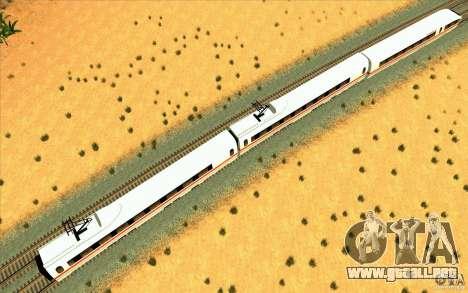 ICE3 Train para GTA San Andreas vista posterior izquierda