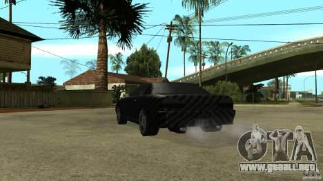 Elegy Carbon Style V 1.00 para GTA San Andreas vista hacia atrás