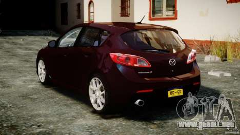 Mazda Speed 3 [Beta] para GTA 4 Vista posterior izquierda