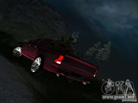 Dodge Ram 1500 Longhorn 2012 para GTA San Andreas vista hacia atrás