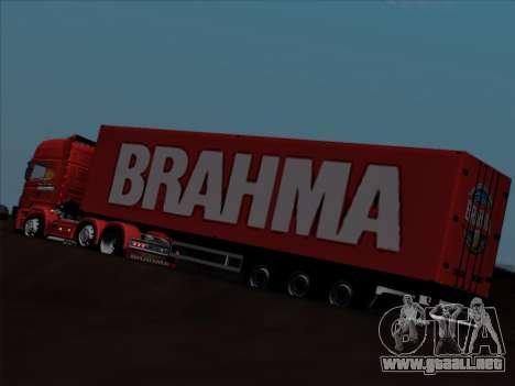 Trailer de Scania R620 Brahma para vista inferior GTA San Andreas