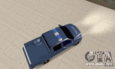 Toyota Hilux Somaliland Police para GTA San Andreas vista posterior izquierda
