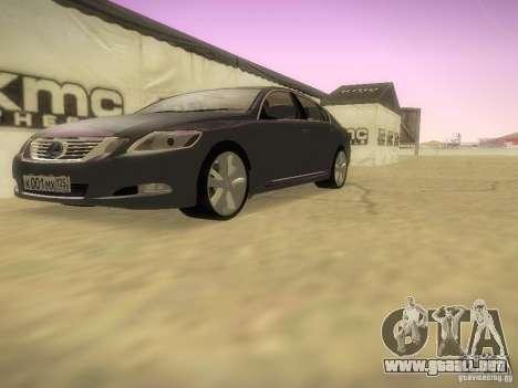 Lexus GS450H para visión interna GTA San Andreas
