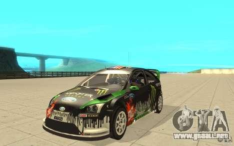 Ford Focus RS WRC 08 para visión interna GTA San Andreas
