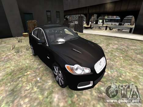 Jaguar XFR para GTA 4 vista lateral