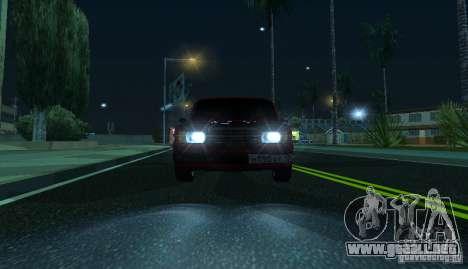 VAZ 2107 Gangsta para la visión correcta GTA San Andreas