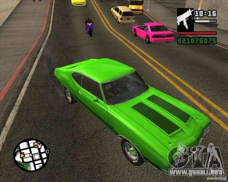 Oldsmobile 442 (fixed version) para la visión correcta GTA San Andreas