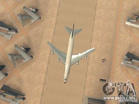 Boeing 747-100 Lufthansa para vista lateral GTA San Andreas