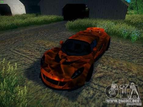 Hennessey Venom GT Spyder para la vista superior GTA San Andreas