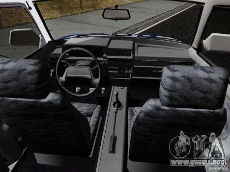 VAZ 21099, policía para GTA San Andreas vista hacia atrás