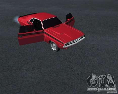 Dodge Chellenger V2.0 para la visión correcta GTA San Andreas