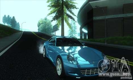 Ferrari 612 Scaglietti para GTA San Andreas vista hacia atrás