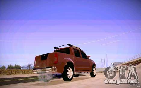 Nissan Fronter para GTA San Andreas vista posterior izquierda