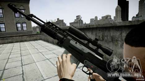 Accuracy International AS50 para GTA 4 quinta pantalla