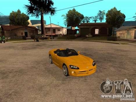 Dodge Viper SRT10 Impostor Tuning para la visión correcta GTA San Andreas