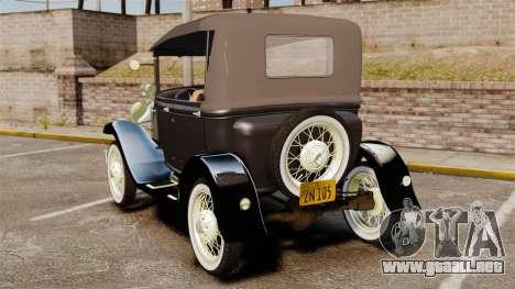 Ford Model T 1924 para GTA 4 Vista posterior izquierda