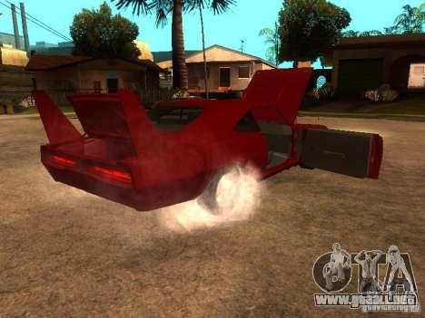 Dodge Charger Daytona Fast & Furious 6 para la vista superior GTA San Andreas