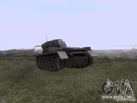 PzKpfw II Ausf.A para GTA San Andreas vista posterior izquierda