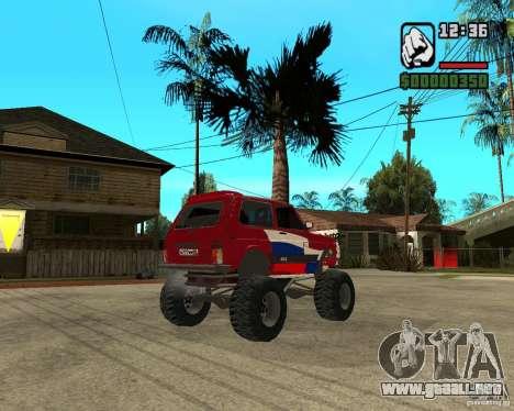 VAZ-21213 4x4 Monster para GTA San Andreas vista hacia atrás