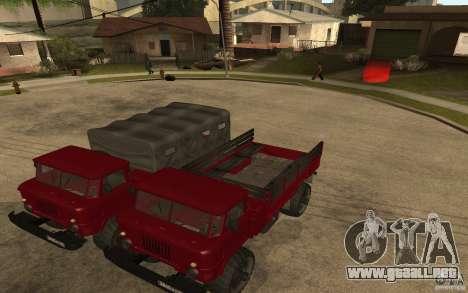 GAZ 66 para GTA San Andreas vista hacia atrás