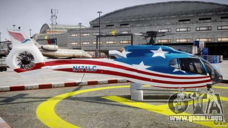 Eurocopter EC 130 B4 USA Theme para GTA 4 vista interior