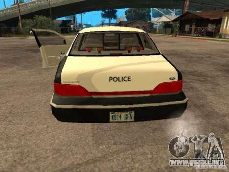 Ford Crown Victoria 1994 Police para GTA San Andreas vista hacia atrás