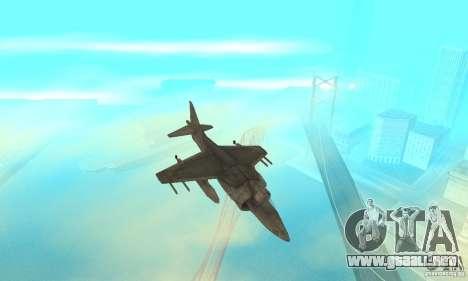 AV-8 Harrier para visión interna GTA San Andreas