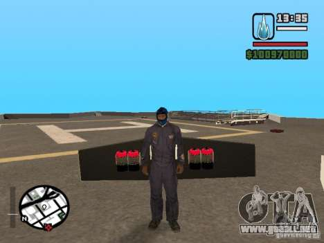 Jetwing Mod para GTA San Andreas quinta pantalla
