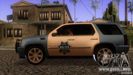 Cadillac Escalade 2007 Cop Car para GTA San Andreas left