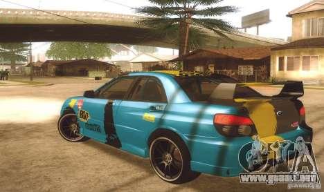 Subaru Impreza WRX STI Futou Battle para GTA San Andreas left