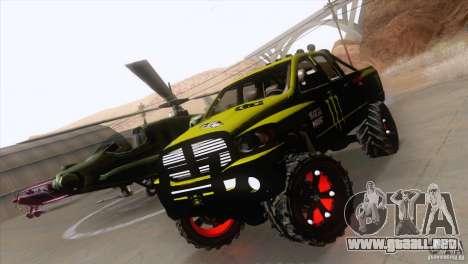 Dodge Ram 4x4 para la visión correcta GTA San Andreas