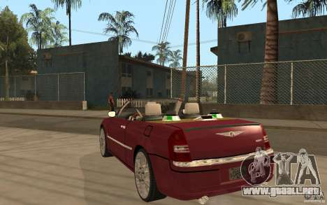 Chrysler 300c Roadster Part2 para GTA San Andreas vista posterior izquierda