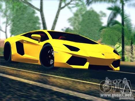 Lamborghini Aventador LP700-4 2011 V1.0 para vista lateral GTA San Andreas