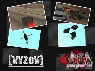 Llame a los helicópteros con munición para GTA San Andreas
