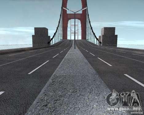 Nuevas texturas de tres puentes en SF para GTA San Andreas octavo de pantalla