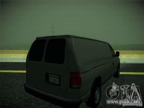 Ford E150 2000 para GTA San Andreas vista posterior izquierda