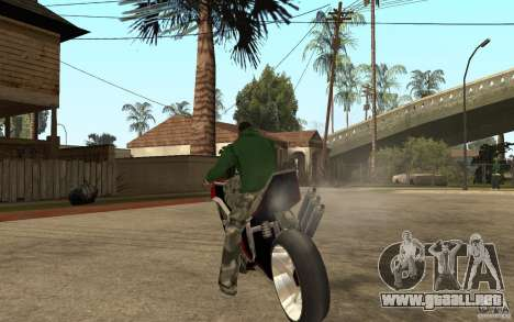 Streetfighter NRG 500 Snakehead v2 para GTA San Andreas vista posterior izquierda