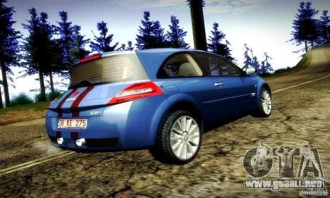 Renault Megane Coupe 2008 TR para la visión correcta GTA San Andreas