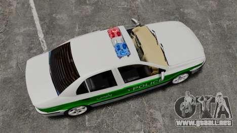 Iran Khodro Samand LX Police para GTA 4 visión correcta