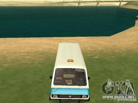 RAF 2203 CR v. 2 para GTA San Andreas vista hacia atrás