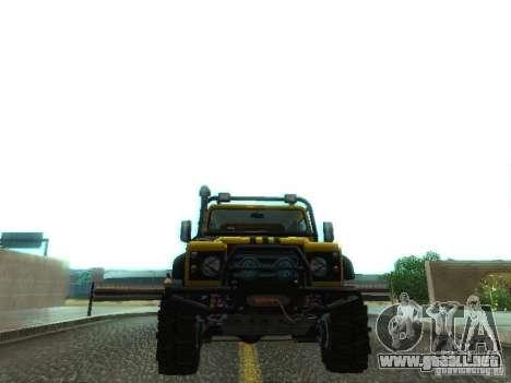 Land Rover Defender Off-Road para vista lateral GTA San Andreas