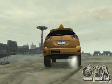 Lexus RX400 New York Taxi para GTA 4 vista superior