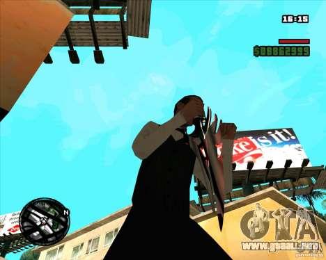 Chrome black red gun pack para GTA San Andreas sexta pantalla