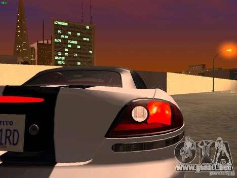 Dodge Viper SRT-10 Roadster para visión interna GTA San Andreas
