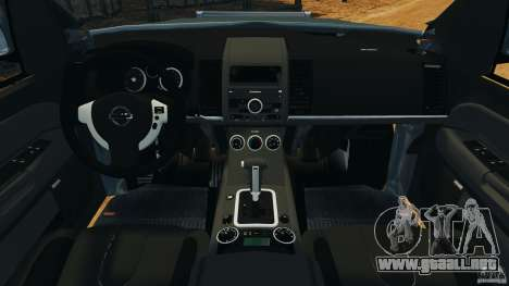 Nissan Frontier DUB v2.0 para GTA 4 vista hacia atrás