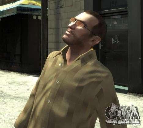 Nuevas gafas para Niko-rosado para GTA 4 tercera pantalla