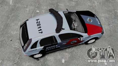 Chevrolet Corsa 2012 PMESP ELS para GTA 4 visión correcta